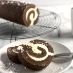 Chocolate Swiss Roll with Bailey's Cream Filling